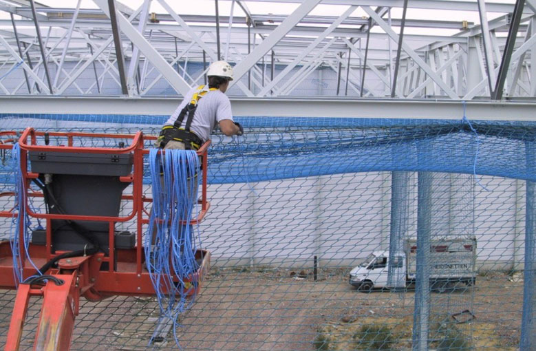 Construction safety nets with thimbles Netten