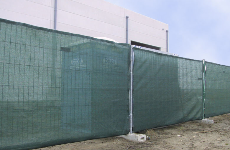 Nets for construction site fencing