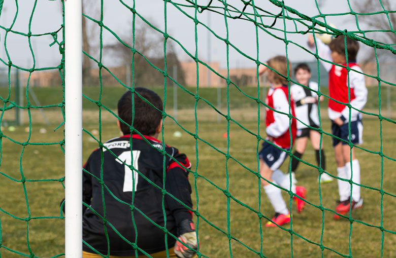 Knotted junior football goal nets Netten