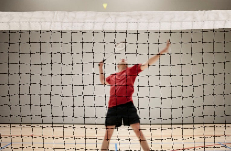 Badminton nets with side straps Netten