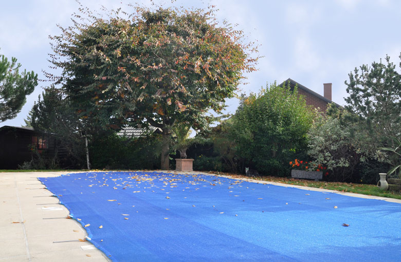 Fine-mesh swimming pool cover nets Netten